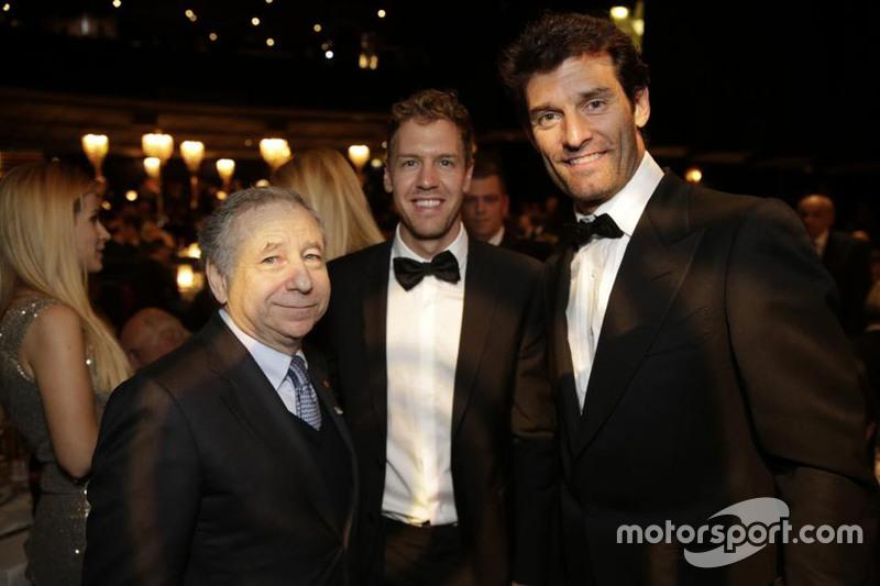 Jean Todt, Sebastian Vettel e Mark Webber