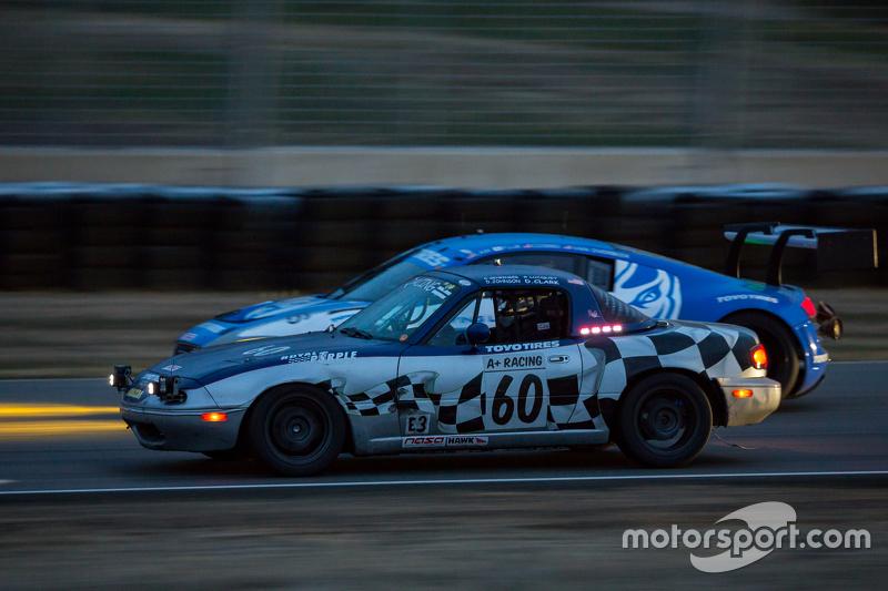 #60 A+ Racing Old Timers, Mazda Miata: Dion Johnson, Richard Lucquet, David Gehringer, Doug Clark, Scott Morton