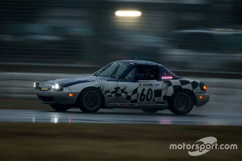 #60 A+ Racing Old Timers, Mazda Miata: Dion Johnson, Richard Lucquet, David Gehringer, Doug Clark, Scott Morton