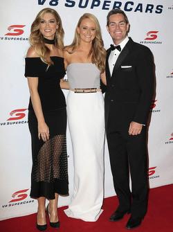 Craig Lowndes, Triple Eight Race Engineering Holden with partner Lara McDonald and Delta Goodrem