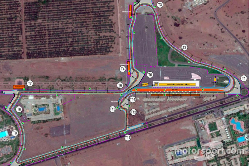 Marrakech track layout revised