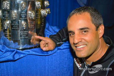 Juan Pablo Montoya sur le Borg Warner trophy