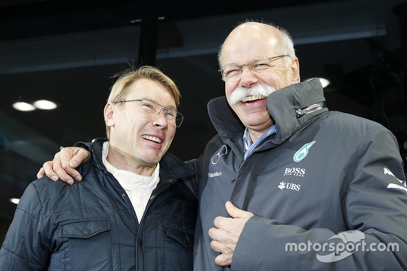 Mika Hakkinen and Dr. Dieter Zetsche