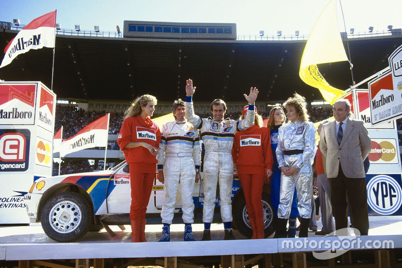 Tercer lugar Carlos Reutemann y Jean-François Fauchille, Peugeot 205 T16