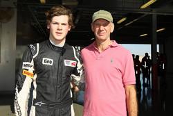 Harrison Newey and Adrian Newey