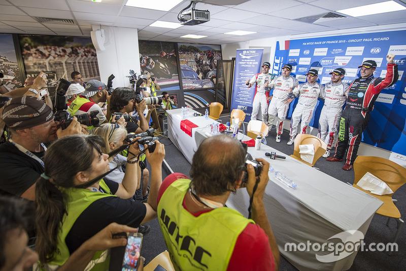 Press conference: Mehdi Bennani, Citroën C-Elysee WTCC, Sébastien Loeb Racing, Yvan Muller, Citroën