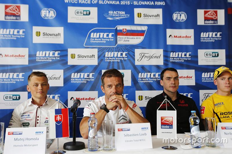 Press conference: Matej Homola, Chevrolet RML Cruze TC1, Campos Racing, Sébastien Loeb, Citroën C-Elysee WTCC, Citroën World Touring Car team, Norbert Michelisz, Honda Civic WTCC, Zengo Motorsport