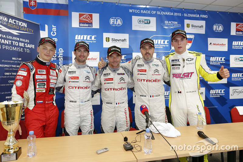 Press conference: Matej Homola, Chevrolet RML Cruze TC1, Campos Racing, Jose Maria Lopez, Citroën C-