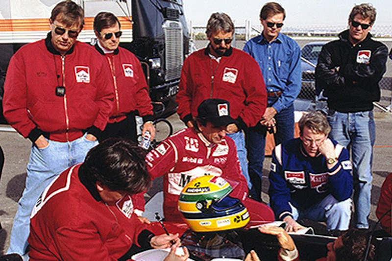 Ayrton Senna, Emerson Fittipaldi, Rick Mears, Paul Tracy
