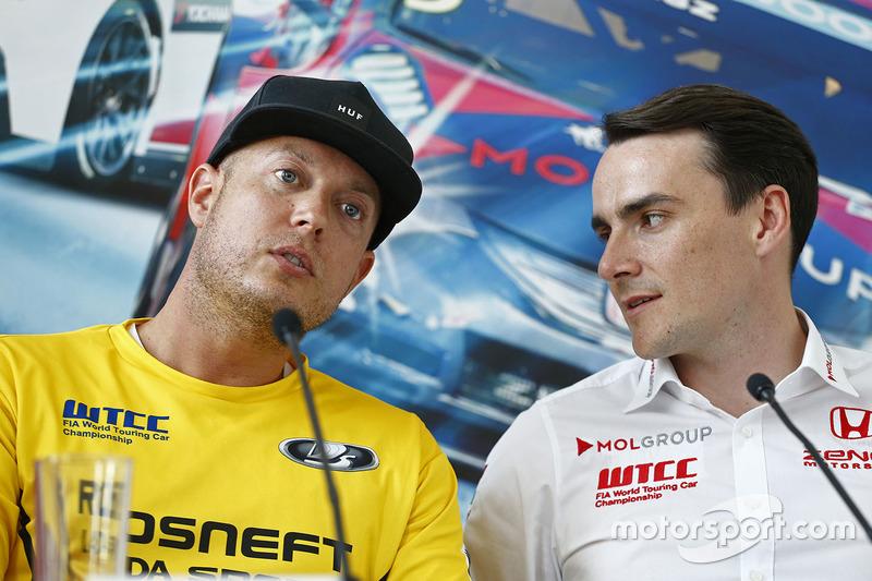 Press conference: Rob Huff, Lada Vesta WTCC, Lada Sport Rosneft and Norbert Michelisz, Honda Civic WTCC, Zengo Motorsport