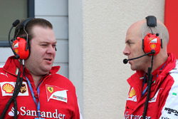 Dave Greenwood, Ferrari race engineer and Jock Clear, Ferrari