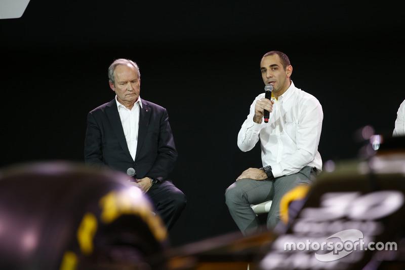 Jerome Stoll,  presidente da Renault Sport F1 com Cyril Abiteboul, diretor geral