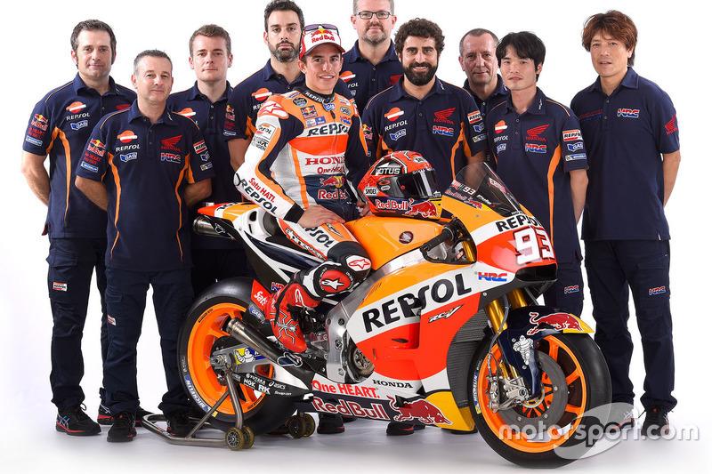 Marc Marquez, Repsol Honda Team, com sua equipe