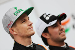 Серхио Перес, Sahara Force India F1 и Нико Хюлькенберг, Sahara Force India F1