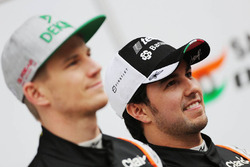 Sergio Perez, Sahara Force India F1 et Nico Hulkenberg, Sahara Force India F1