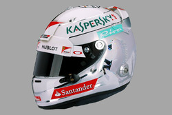 Sebastian Vettel, il casco