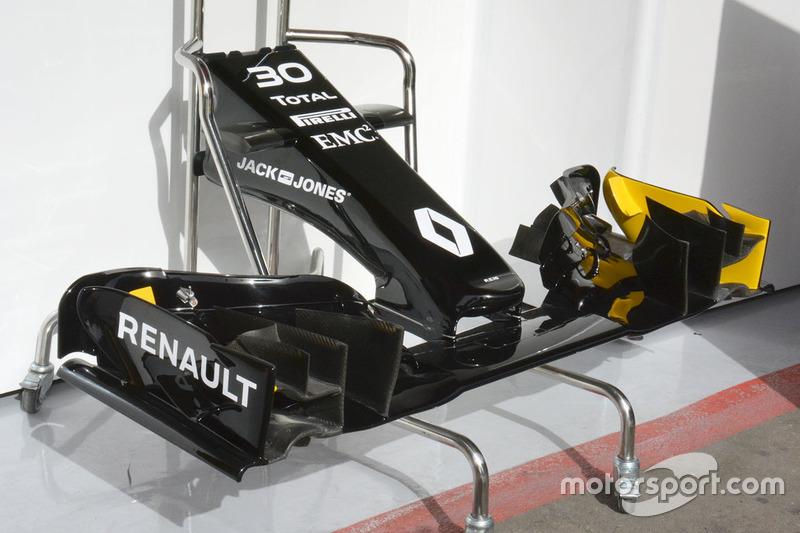 L'aileron avant de la Renault Sport F1 Team R.S.16