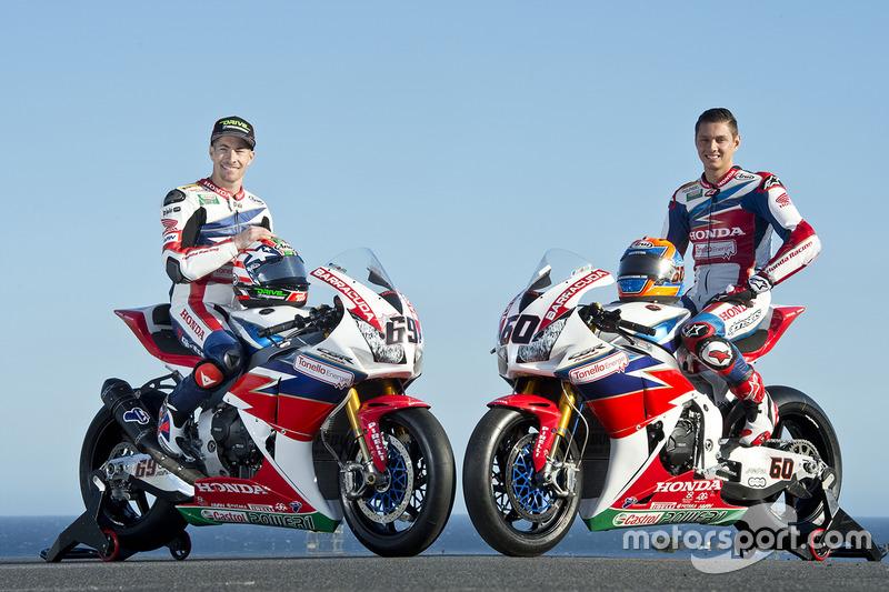 Nicky Hayden, Honda WSBK Team y Michael van der Mark, Honda WSBK Team