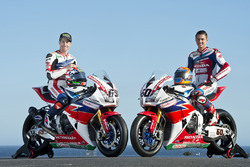 Nicky Hayden, Honda WSBK Team und Michael van der Mark, Honda WSBK Team