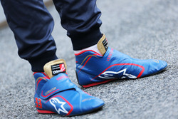 The Alpinestars racing boots of Max Verstappen, Scuderia Toro Rosso