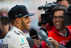 Lewis Hamilton, Mercedes AMG F1 with the media
