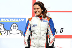 Podium: second place Tatiana Calderon