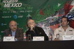 José Abed, Vizepräsident FIA Méxiko; Jean Todt, FIA Präsident and Ricardo González, RGR Sport