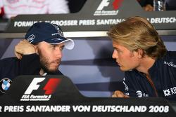 FIA press conference: Nick Heidfeld, BMW Sauber F1 Team and Nico Rosberg, WilliamsF1 Team