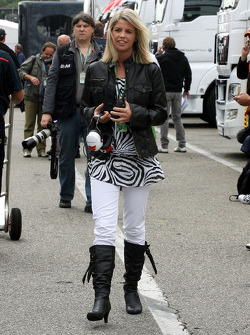 New girl friend of Timo Glock, Toyota F1 Team