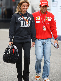 Rafaela Bassi, Girl Friend, Wife of Felipe Massa with Felipe Massa, Scuderia Ferrari