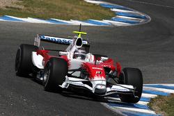 Jarno Trulli, Toyota Racing, TF108, on slick tyres