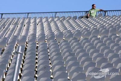 Preparación en el circuito para el Grand Prix de Valencia
