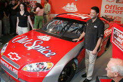 Tony Stewart and the #14 Old Spice Car