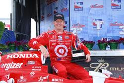 Race winner Scott Dixon celebrates