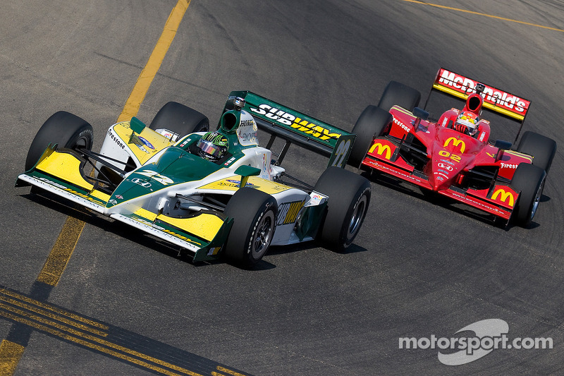 Paul Tracy leads Justin Wilson