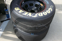 Steel cords show through tires with only 10 laps on them