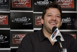Tony Stewart during the Stewart Hass Team announcement for the addition of Ryan Newman in 2010