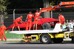 Scuderia Ferrari, F2008 back on tow truck