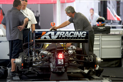 KV Racing team members at work