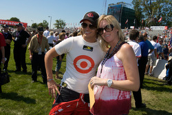 Dan Wheldon with his lovely wife Susie Behm
