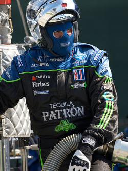 Patron Highcroft Racing team member ready for a pit stop