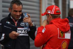 Beat Zehnder, BMW Sauber F1 Team, Team Manager and Kimi Raikkonen, Scuderia Ferrari