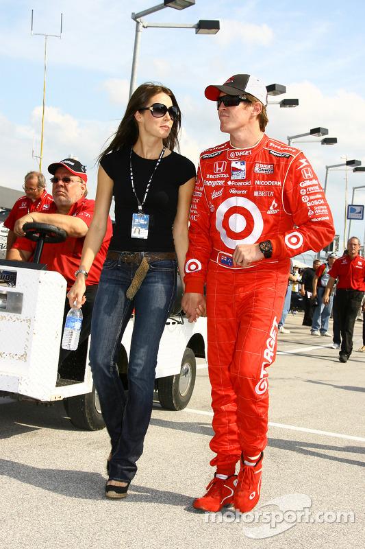 Scott Dixon and his wife Emma