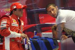 Felipe Massa, Scuderia Ferrari with Marco Materazzi, Italian Football player for Inter Milan