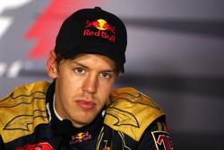 El ganador Sebastian Vettel