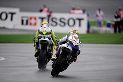 Valentino Rossi leads Jorge Lorenzo
