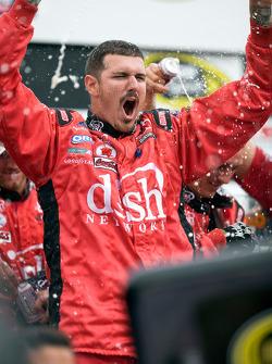 Victory lane: Dish Network crew member celebrate