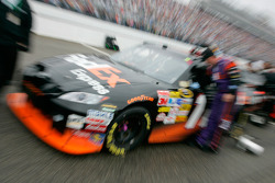 Denny Hamlin's FedEx Toyota on pit road prior to the start