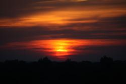 Sunrise on Indianapolis Motor Speedway