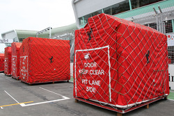 The travel crates of Scuderia Ferrari